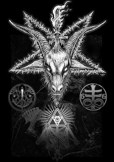 Satan lucifer chruch of Satan 666 Satanic Tattoos, Satanic Art, Arte Horror, Horror Art, Imagenes Dark, Evil Art, Dark Artwork, Arte Obscura, Demon Art
