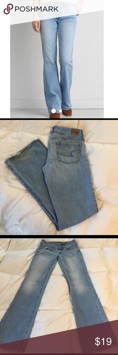 AE Favorite Boyfriend Stretch jean Comfy jeans from AE. Worn gently. Some wear on back/bottom hen at leg opening. Take note of the style: Favorite Boyfriend Stretch. Size is a 2-Long.  99% cotton/ 1% spandex American Eagle Outfitters Jeans Boyfriend