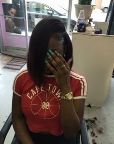 girls discovered by Kemdoll Quick Hairstyles For School, Quick Weave Hairstyles, Dope Hairstyles, Black Girls Hairstyles, Pretty Hairstyles, Straight Hairstyles, Protective Hairstyles, Curly Hair Styles, Natural Hair Styles