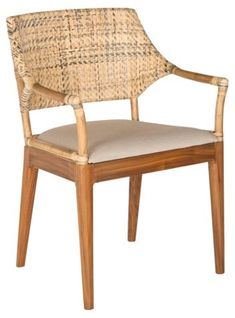 Lorelei Armchair, Honey/Natural - Accent and Dining Chairs Under $350 - Affordable Finds - Sale | One Kings Lane         285