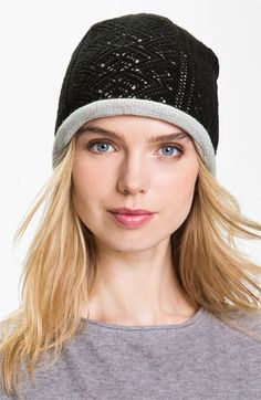 Laundry by Shelli Segal Lace Knit Beanie | Nordstrom