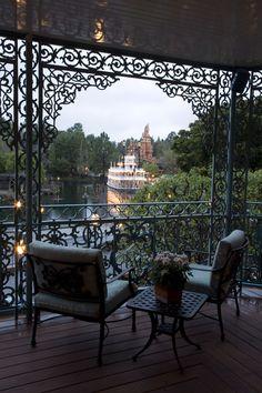Beautiful view from the Disney Dream Suite overlooking Adventureland!