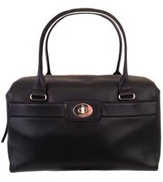 Women's Top-Handle Handbags - Kate Spade Colette Hampton Road Genuine Black Leather Satchel 1985 *** Check out the image by visiting the link.