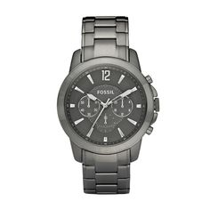 Fossil Grant Plated Stainless Steel Watch - Smoke