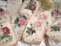 Vintage French Chocolat Poulain Gift Tags