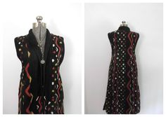 1970s Ethnic / African Tribal Duster Maxi Vest by rileybella123, $74.00