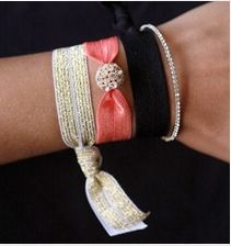 Emi-Jay hair ties -- so pretty they could pass as bracelets!