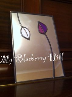 *Dancing Leaves* stained glass mirror