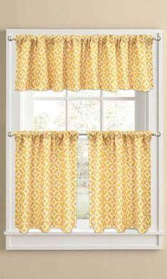 sunflower theme kitchen curtains windows Walmart | Kitchen Curtains ...