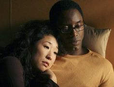 Love them together. Cristina Yang & Preston Burke in Grey's Anatomy (actors Sandra Oh & Isaiah Washington)