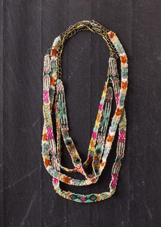 embroidered necklace by Coral & Tusk