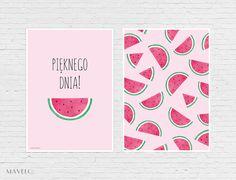 Owocowe plakaty do wydrukowania - arbuzy, cytryny i truskawki - MAVELO