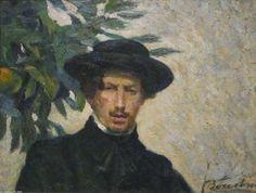 Umberto Boccioni - Self-portrait, oil on canvas, Metropolitan Museum of Art. Famous Self Portraits, Umberto Boccioni, Italian Painters, Post Impressionism, Art Database, Public Art, Metropolitan Museum, Les Oeuvres, Painting Prints