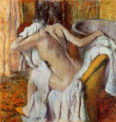 After the Bath, Woman Drying Herself - Edgar Degas - circa 1905