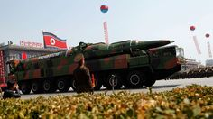 PHOTO: A North Korean vehicle carrying what appears to be a new missile passes by during a mass military parade in Pyongyang's Kim Il Sung Square to celebrate the centenary of the birth of the late North Korean founder Kim Il Sung, April 15, 2013.