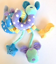 Disney Parks Infant Baby Plush Magical Activity Spiral Mickey Mouse Stroller Crib Toy