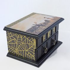 Gothic Jewelry Box  Funeral Carriage and by NacreousAlchemy