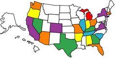 My USA travel map!