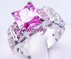 SZ6 7 8 9 10 Gorgeous Lab Pink Sapphire WGF Ring | eBay