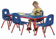 "Rectangle Activity Table 36"" W x 72"" L by Mahar. $152.99"
