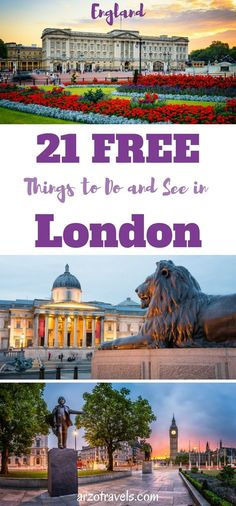 Free and beautiful activities to do in London, England. UK. London on a budget.