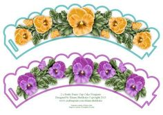 2 x Pretty Pansy Flower Cup Cake Wrappers on Craftsuprint designed by Elaine Sheldrake - Pretty pansy cup cake wrappers for every one who loves flowers and pansies especially. Simply print off as many as you need. Lots more of my wrappers can be found by just clicking onto my name Elaine Sheldrake below my picture to see them. Happy Cup Cake making everyone! - Now available for download!