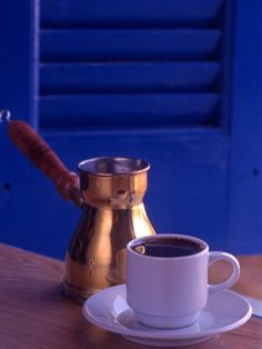 "Greek Coffee and Copper Pot, Crete, Greece | ""Take a piece of Greece home..."""