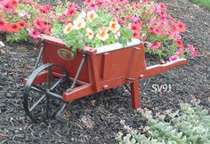 Garden Decor Buckboard Wagons, Wheelbarrows, Planters
