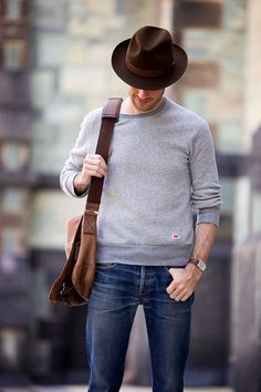 When the chilly breeze comes through sweatshirts jeans and some of our fav gentleman pieces oxfords fedoras blazers watches casual easy relaxed sharp