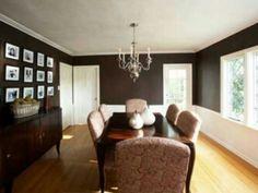 Dark walls formal dining room