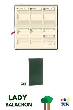 BALTA eko 2016.gada plānotāju kolekcija: LADY Balacron Zaļš. Zaļais ir modē!