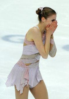 Carolina Kostner, Pink Figure Skating / Ice Skating dress inspiration for Sk8 Gr8 Designs.