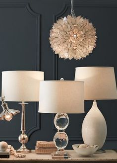 Different lamp styles on one table