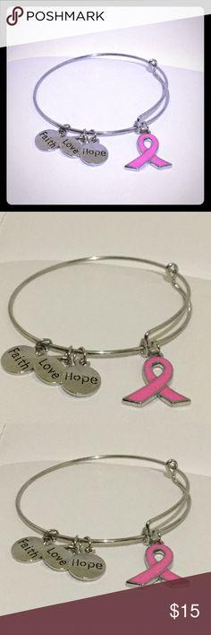 Breast Cancer Adjustable Bangle Bracelet New Brand New zdazzled Jewelry Bracelets