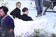 East Billboard Music Awards---#they look like the bride and the groom at a wedding lmao #taemin #onew #ontae