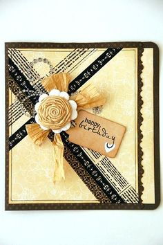 Washi Tape Card- cute design to use up scrap paper, too.