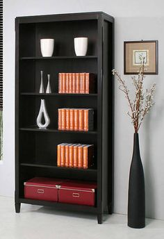 plymouth bookcase brown