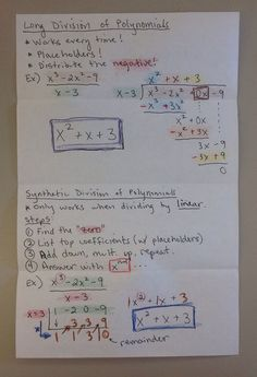 Division of Polynomials (INB p. 48-49) | Nonstop Precalculus Fun