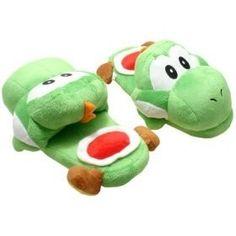 Super Mario cute fashion Yoshi cotton slippers green version