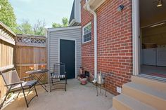 Private fenced-in patio at Maple Bay Townhomes, Virginia Beach, VA