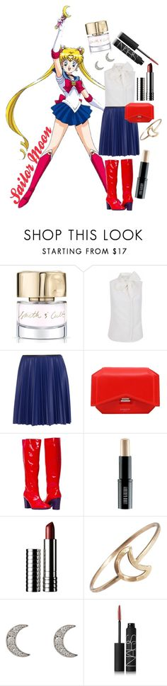 """""""Sailor Moon"""" by rachael-aislynn ❤ liked on Polyvore featuring Smith & Cult, The 2nd Skin Co., Cédric Charlier, Givenchy, Lord & Berry, Clinique, Stefanie Sheehan Jewelry, Finn, NARS Cosmetics and bow"""