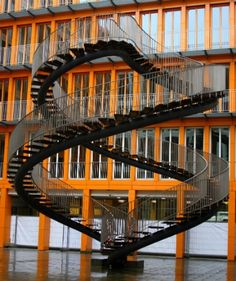 Never-ending staircase in Munich.