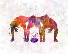 Rugby speler 10 mannen Fine Art Print Glicée Poster Decor