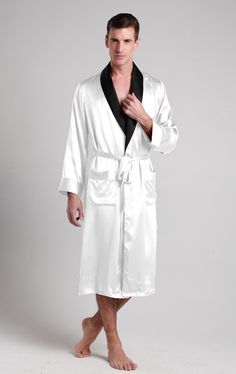robe de chambre en soie pour homme ayk sous v tement homme pinterest robe de chambre soie. Black Bedroom Furniture Sets. Home Design Ideas