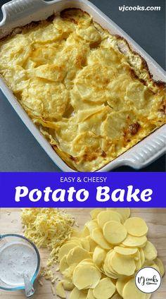 PotatoBake Cheesy Leeks, Cheesy Potato Bake, Baked Potato Casserole, Cheesy Potatoes, Hasselback Potatoes, Best Ever Potato Salad, Fluffy Mashed Potatoes, Great Recipes, Favorite Recipes