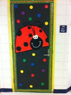 Look who was spotted in preschool!  back to school bulletin board idea