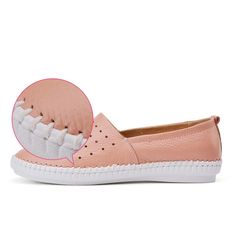 O16U women Espadrilles flats shoes Genuine leather cut out slip on Ladies Ballet Flats loafers Female Moccasins Shoes Ballerina - Feseldo.com