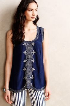 Anthropologie Chandani Embroidered Tank #anthrofav