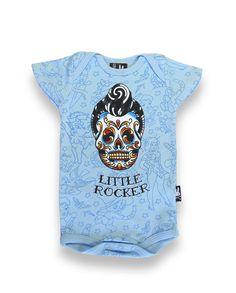 Six Bunnies Baby LITTLE ROCKER Strampler.Tattoo,Biker,Oldschool,Custom Style