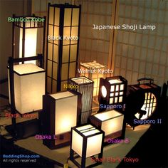 Natural comfort - Japanese Shoji Lamp at the BeddingShop.com